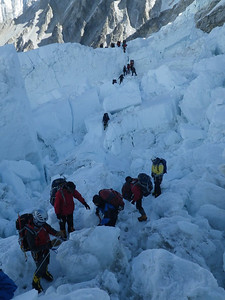 Khumbu glacier IceFall on May 15th.