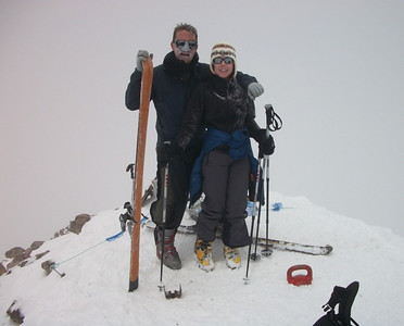 Alison and Fred at the summit.