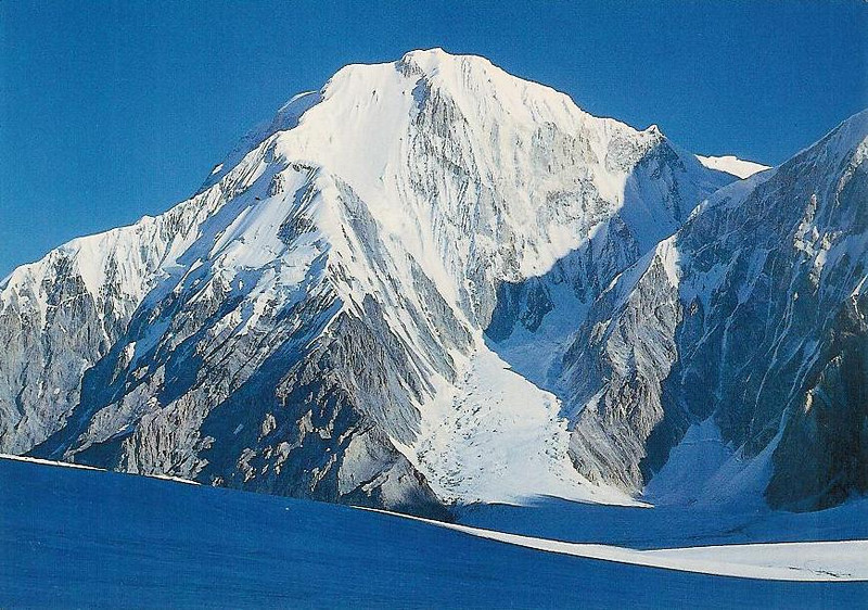 Peak Chapayeva (6371m) from the south.
