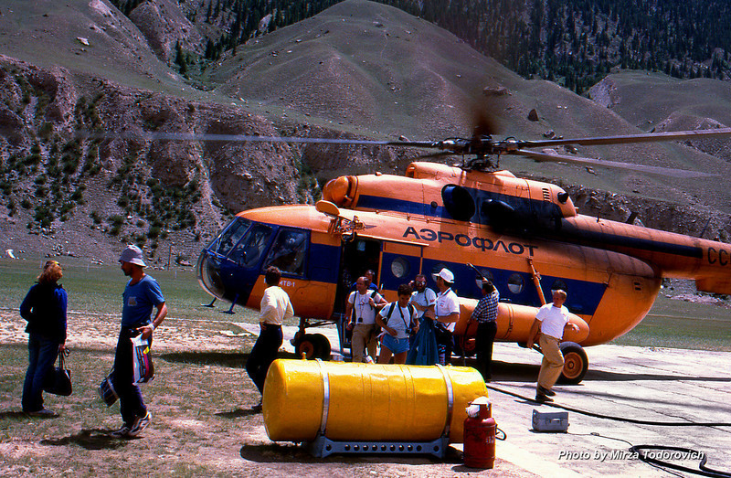 Portable, hard hyperbaric chamber at Maid Adyr heliport.