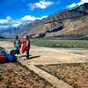 Gafa, Durmo and Naim talking during the short brake at Maid Adyr Camp on the way out to Karakol.