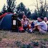 Camping next to airport's runaway. Durmo, Hamo, Zlaja and Naim. Karakol.