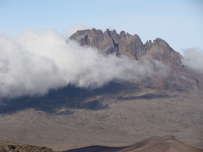 To the east: Mawenzi Mountain - 5149 m