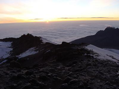 Dawn at the Kibo crater