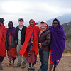 Entrance to Ngorongoro crater conservation area - <br /> together with Masai people
