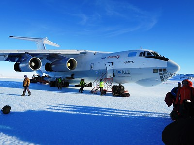 It is Russian Illyushin cargo plane. Can be loaded with 86 tons, 60 passengers and 9 crew members