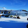 It is Russian Illyushin cargo plane.<br /> Can be loaded with 86 tons, 60 passengers and 9 crew members