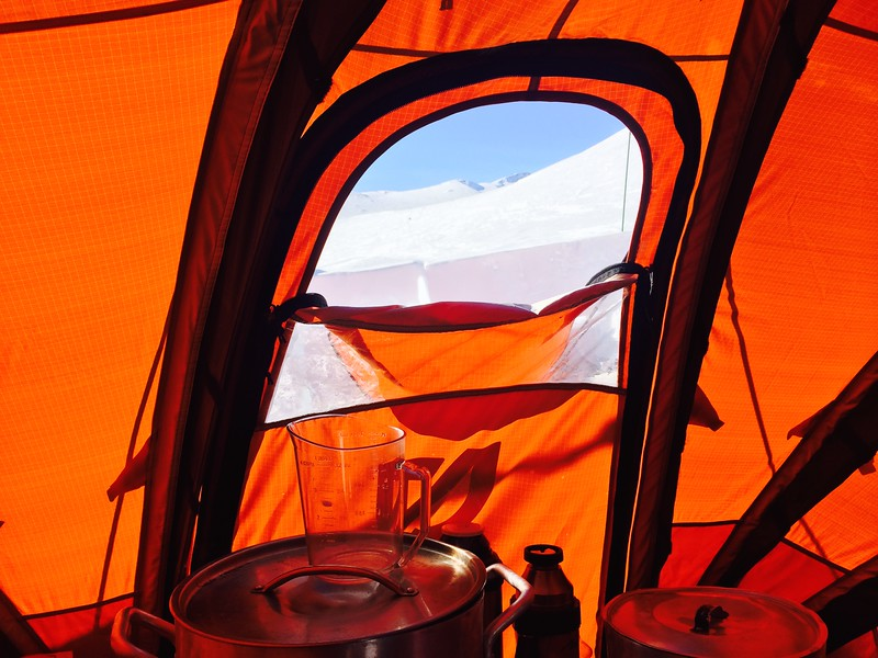 Our kitchen in C2 was in Jacob's tent.