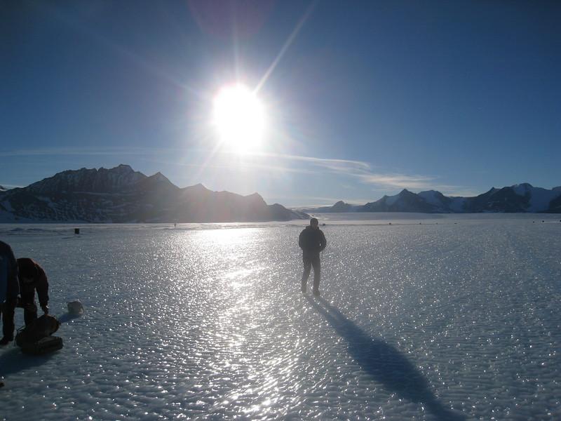 At Blue Ice Runway - Union Glacier.