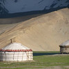 The Kyrgyz have historically been semi-nomadic herders, living in round tents called yurts and tending sheep, horses and yaks.