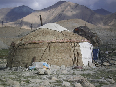 ...and Kyrgyz's yurts are everywhere around.