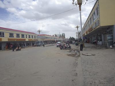 The main street in Tashkurgan.