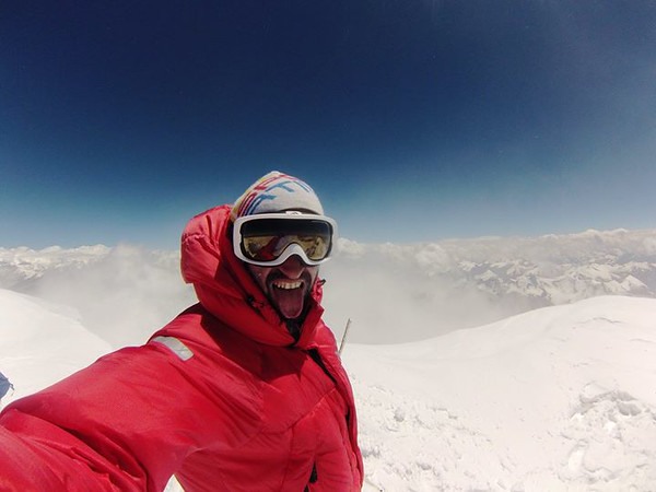 July 16th, 2014.<br /> Italian Martino at the summit of Muztagh Ata - 7.546 meters or 24,757 feet!<br /> I have reached 24,000ft or 7.315m (didn't have enough equipment for the extreme cold weather).<br /> My altimeter showed 24,000 feet at a point where the glacier leveled off onto the summit plateau....<br /> ...but I felt extremely cold...<br /> ...and turned around.