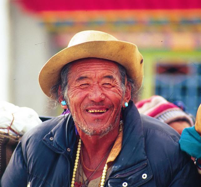 Tibetan man. Lhasa  - Tibet (11,975ft/3.650m).