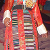 Tibetan national costume. Lhasa - Tibet (11,975ft/3.650m).