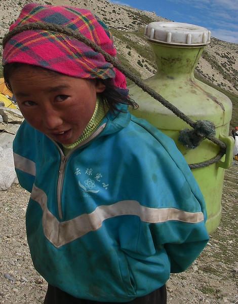 Water supply - Cho Oyu Base Camp (BC) (16,001ft/4.877m).