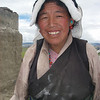 Tibetan woman. Tingri  - Tibet (12,586ft/4.380m).
