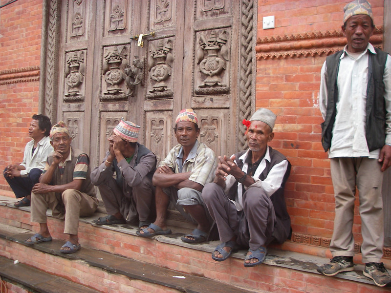 Nepali men. Bhaktapur – Kathmandu, Nepal (4,383ft/1.336m).