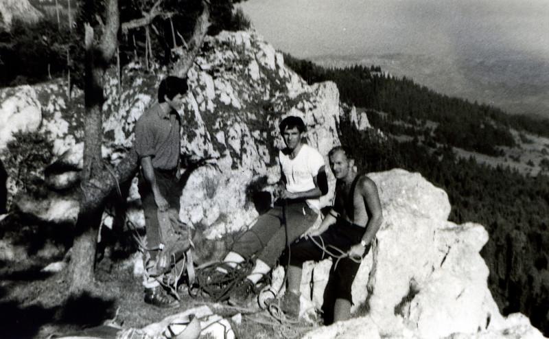 Romanija - Velike stijene - Exit from Okomita - May 1977.