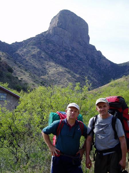 With Zijo at the trilhead of Baboquivari Peak 7,730 ft / 2.356 m
