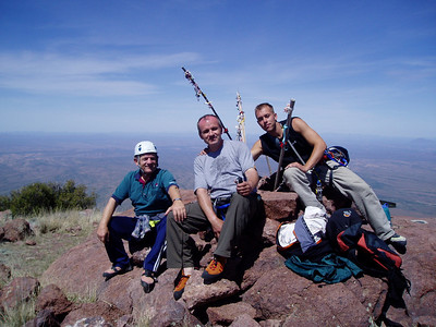 At the summit of Baboquivari Peak 7,730 ft / 2.356 m
