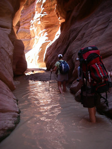 Hikers should check conditions carefully and not rely on seeing the sky to judge the weather. If there is even a slight change of rain, do not enter slot canyons.