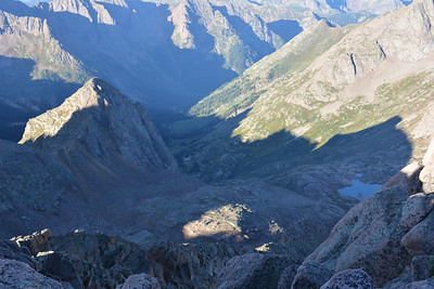 View from Sunlight Peak (14,059ft = 4.285m) towards Chicago Basin.
