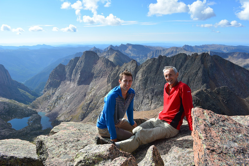 Kenan and Ramiz at Windom Peak (14,082ft = 4.292m).