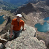 At Windom Peak (14,082ft = 4.292m) with glacier lakes behind.