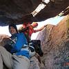 Final push to Sunlight Peak (14,059ft = 4.285m) through 'window'.