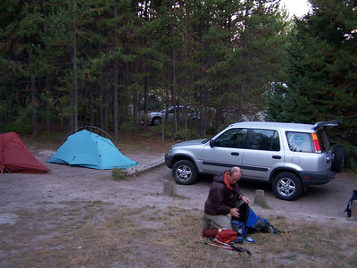 We spent night in Camp at Jackson Hole