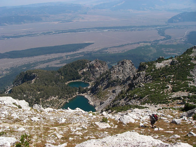 Amphitheater and Surprise Lakes below