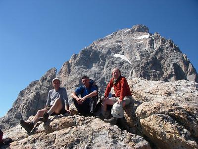 With Grand Teton behind