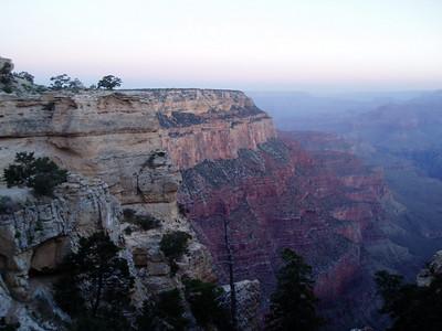 5am at Grand Canyon South Rim at about 7,800ft.