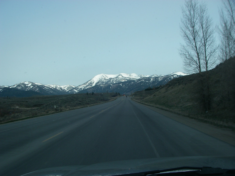 Approaching Teton Pass (8,431ft = 2.570m)