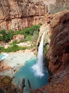 Havasu waterfall (100 ft or 30 m)