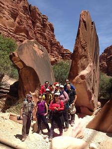 Impressive rocks in Hualapai Canyon