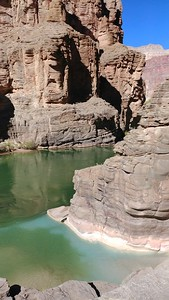 Colorado River confluence (2,093 ft). Mixing of Havasu Creek well known blue-green water with Colorado River1