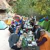 Enjoying dinner at Havasupai campsite