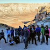 Start hiking at Hualapai Hilltop (5,200 ft)<br /> There was 35 of us. <br /> This is the second, later group. <br /> The first, earlier group is already at campground and looking for appropriate campsites.