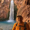 Mooney Falls - 210 ft (64 m) 2.25 miles from Supai Village