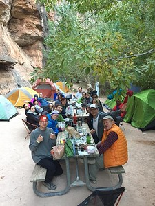 Enjoying dinner at Havasupai campsite1