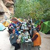 Enjoying dinner at Havasupai campsite1