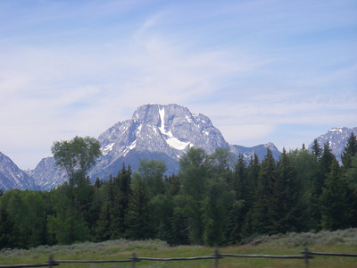 A year ago we climbed CMC on Mount Moran (12,605ft = 3.842m).
