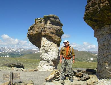 Between mushroom rocks...
