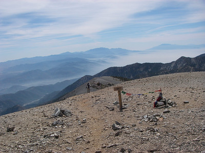Mt. Baldy is visible from much of Southern California and much of Southern California can be seen from it's summit on a clear day