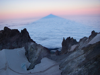 Mount Hood, located about 50 miles east of Portland, Oregon, is one of the most climbed glaciated peaks in North America