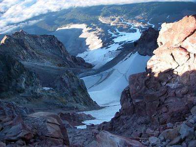 The Palmer Glacier above the ski lift