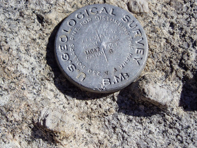 The Summit Mark of Mt. Langley