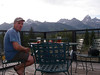 We rented a kayak and had dinner at a nice restaurant with beautiful view of the Teton mountains.
